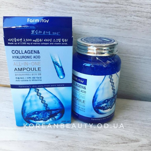 FARM STAY Collagen & Hyaluronic Acid All In One Ampoule