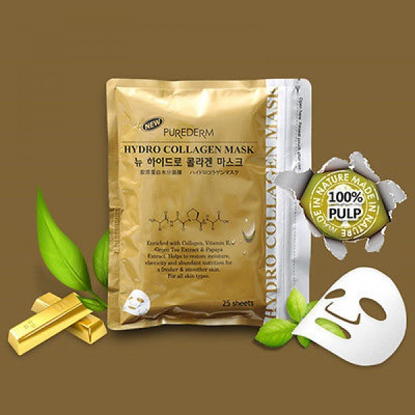 PUREDERM New Hydro Collagen Mask Gold
