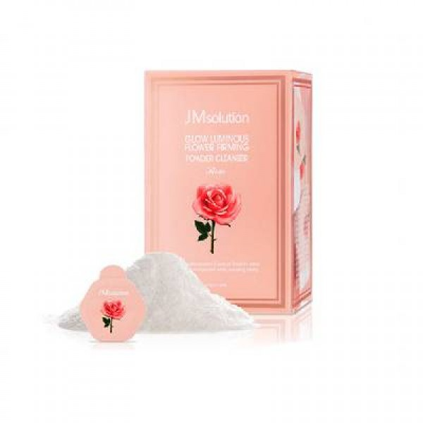 JM solution Glow Luminous Flower Firming Powder Cleanser ROSE