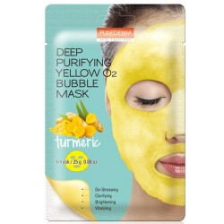 PUREDERM Deep Purifying Yellow O2 Bubble Mask Turmeric