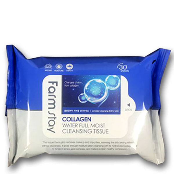 Farm Stay Collagen Water Full Cleansing Tissue