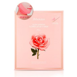 JM Solution Glow Luminous Flower Lift-up V Mask Rose