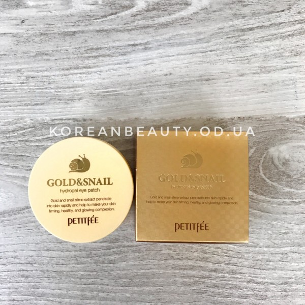 Petitfee Gold & Snail Hydrogel Eye Patch