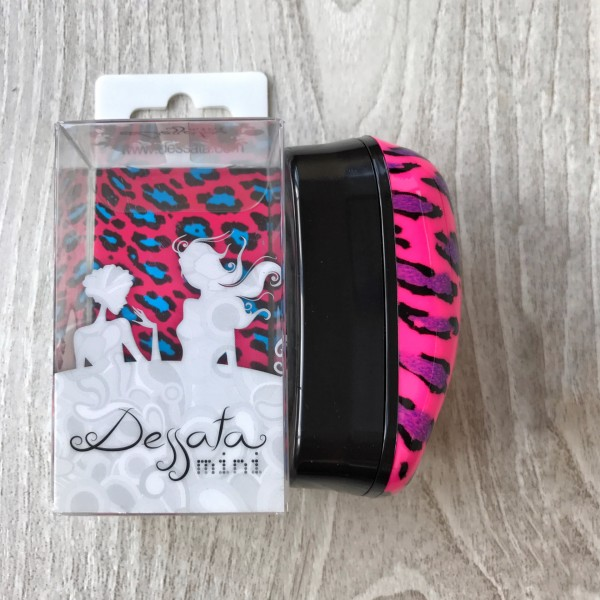 Dessata Hair Brush Mini Leopard