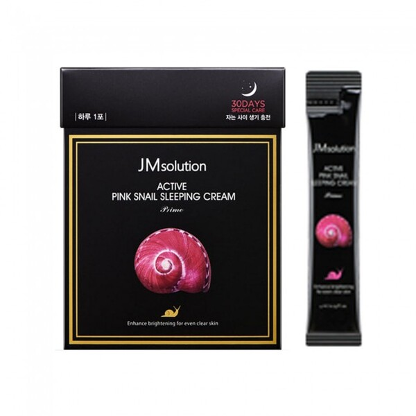 JM Solution Active Pink Snail Sleeping Cream