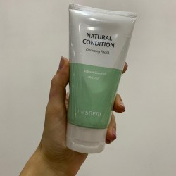 The saem Natural Condition Cleansing Foam Sebum Control
